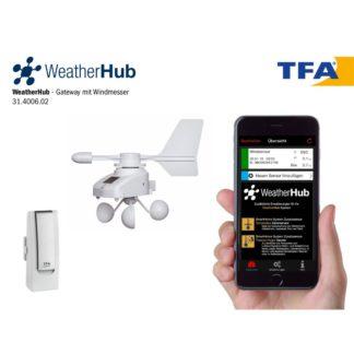 Smart станция TFA WeatherHub с датчиком скорости и направления ветра (31400602)