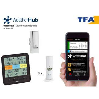 """Термогигрометр TFA """"Klima@Home"""" WeatherHub для смартфонов (31400702)"""
