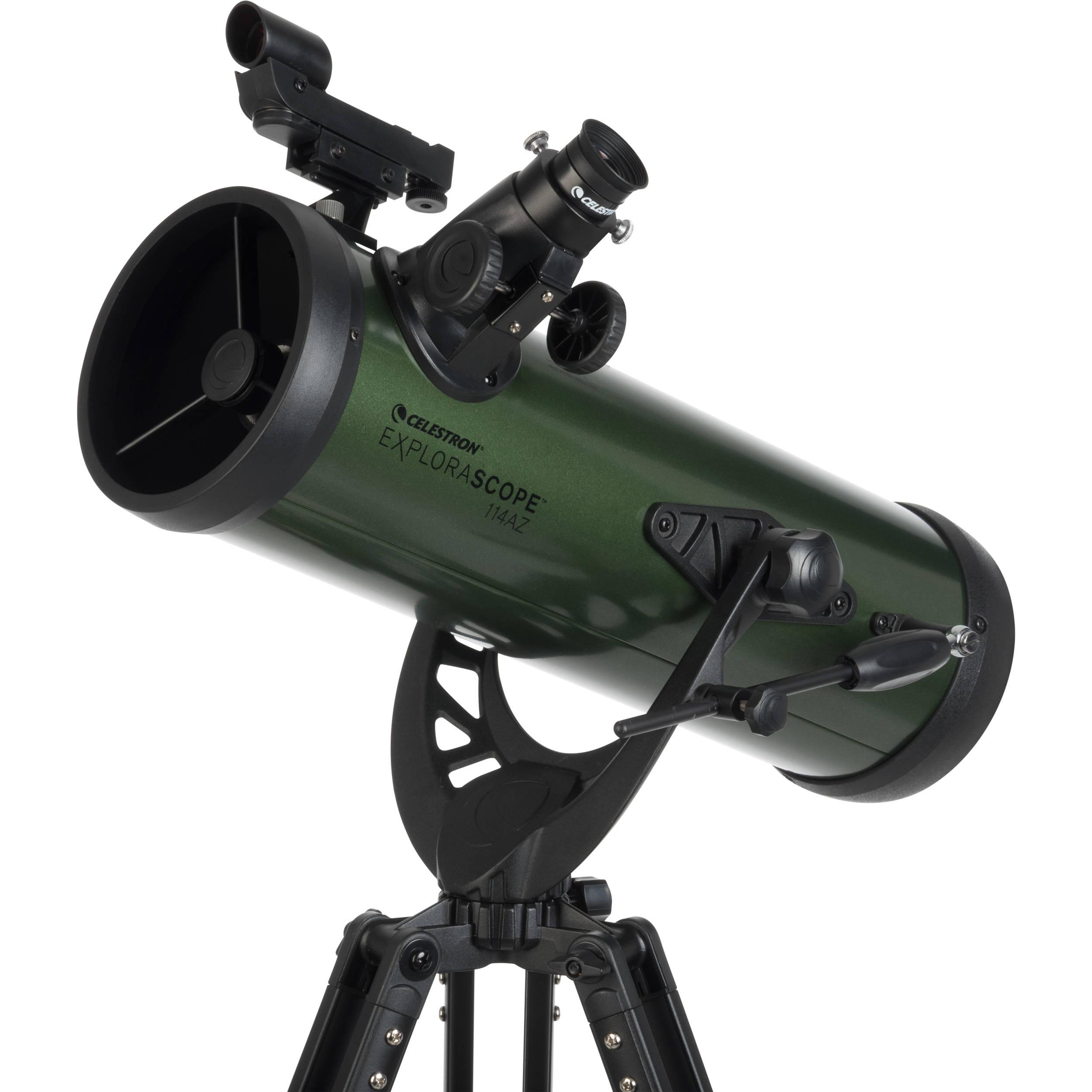 Телескоп Celestron ExploraScope 114 AZ, рефлектор Ньютона (22103)