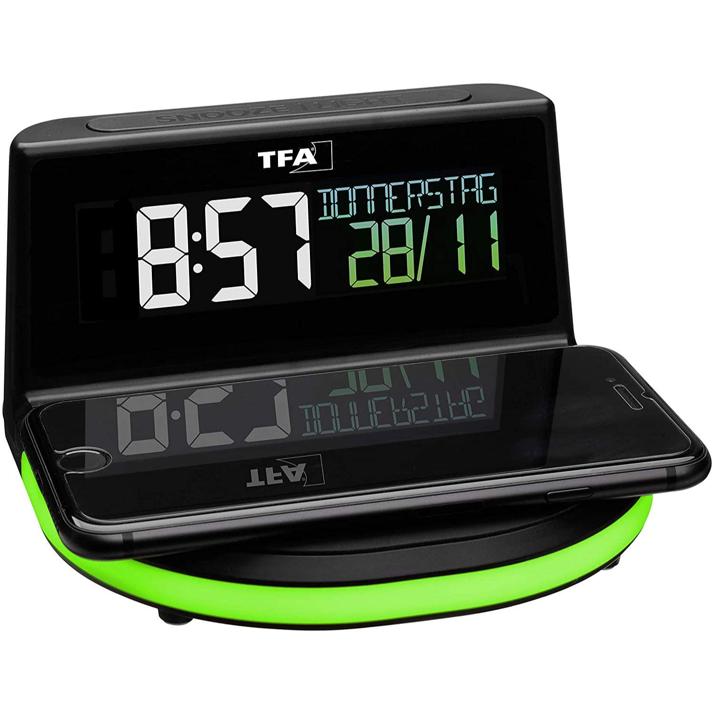"""Настольные часы-светильник с беспроводной зарядкой TFA """"CHARGE-IT WIRELESS"""" (60202801)"""