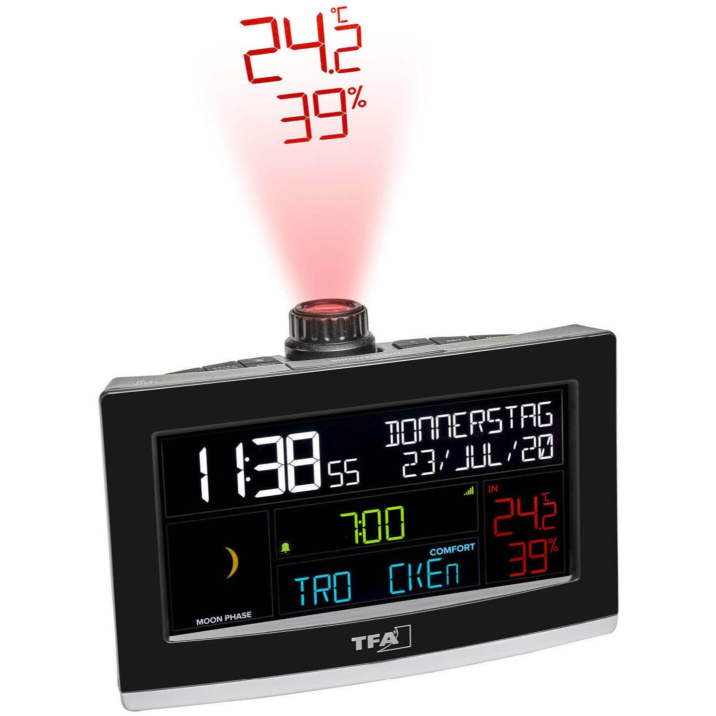 """Проекционные часы с WiFi подключением TFA """"VIEW SHOW"""" (35800201)"""